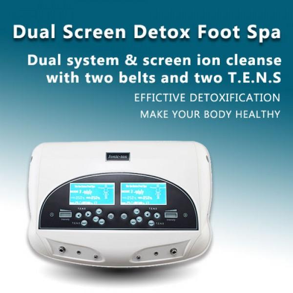 Dual Screen Ions Detox foot spa machine